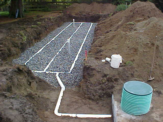gravel bed septic system 1